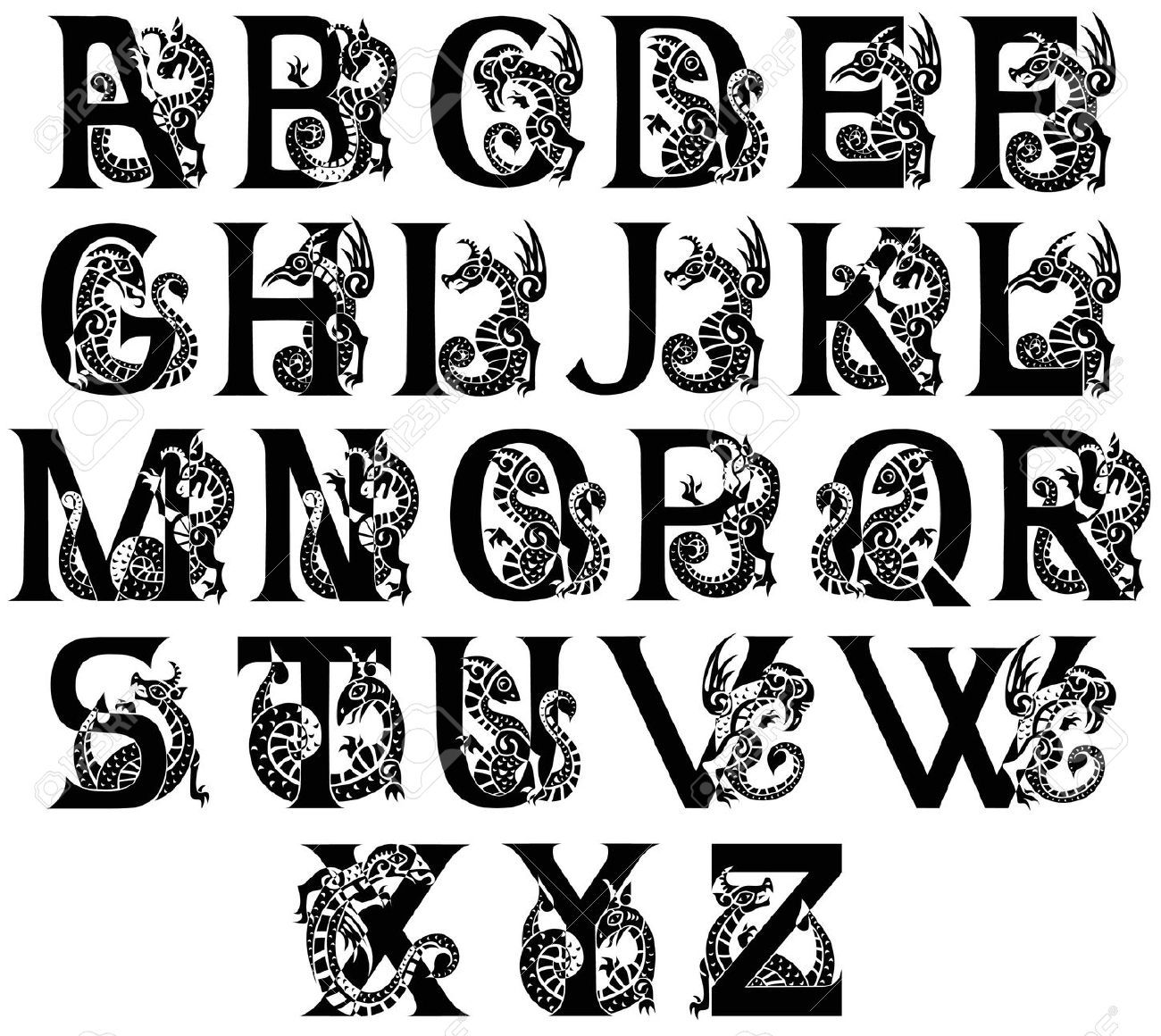 Ornate Gothic Letter Google Search Lettering