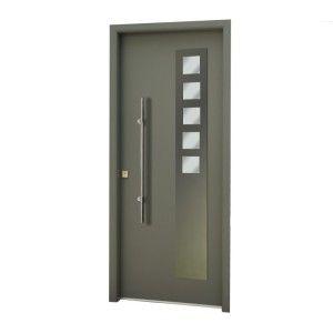 Puerta de seguridad aluminio puertas pinterest for Modelos de puertas de metal