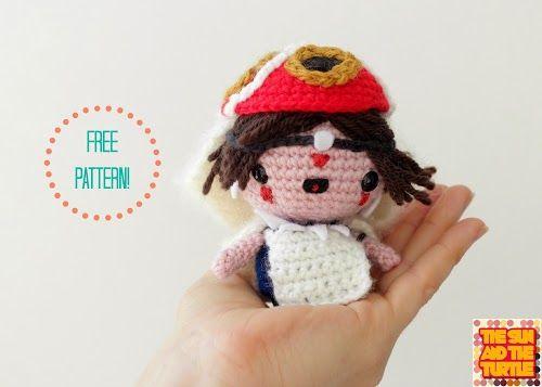 Free Kawaii Amigurumi Patterns : Princess mononoke free amigurumi pattern princess mononoke