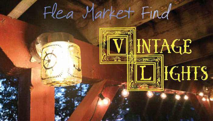 Our Nautical Vintage Outdoor Lights From The Flea Market. 💡 More #DIY