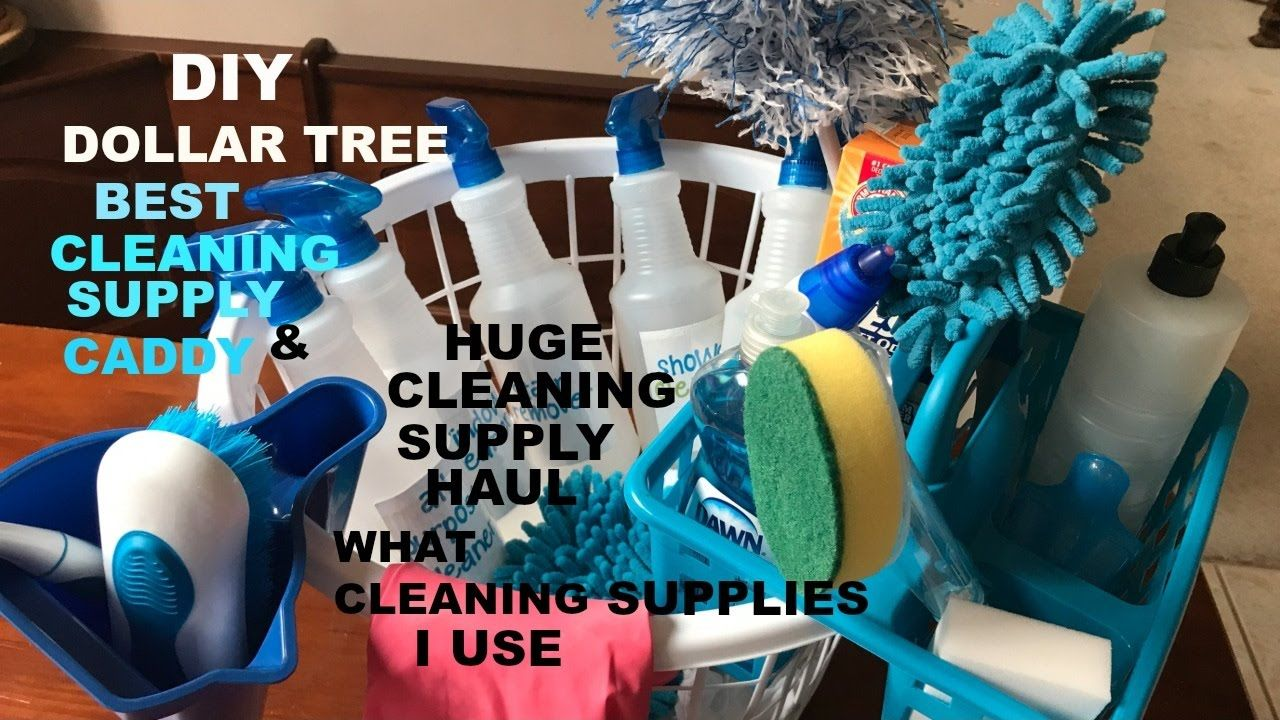 Diy Dollar Tree Best Cleaning Caddy And All The Cleaning Product I