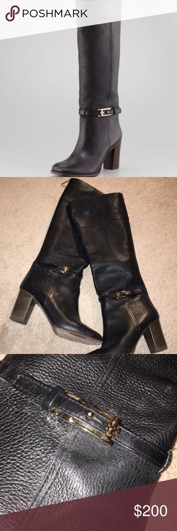 f9a0dfc994e7 Tory Burch Jenna Mid Heel Knee Boot Great shape