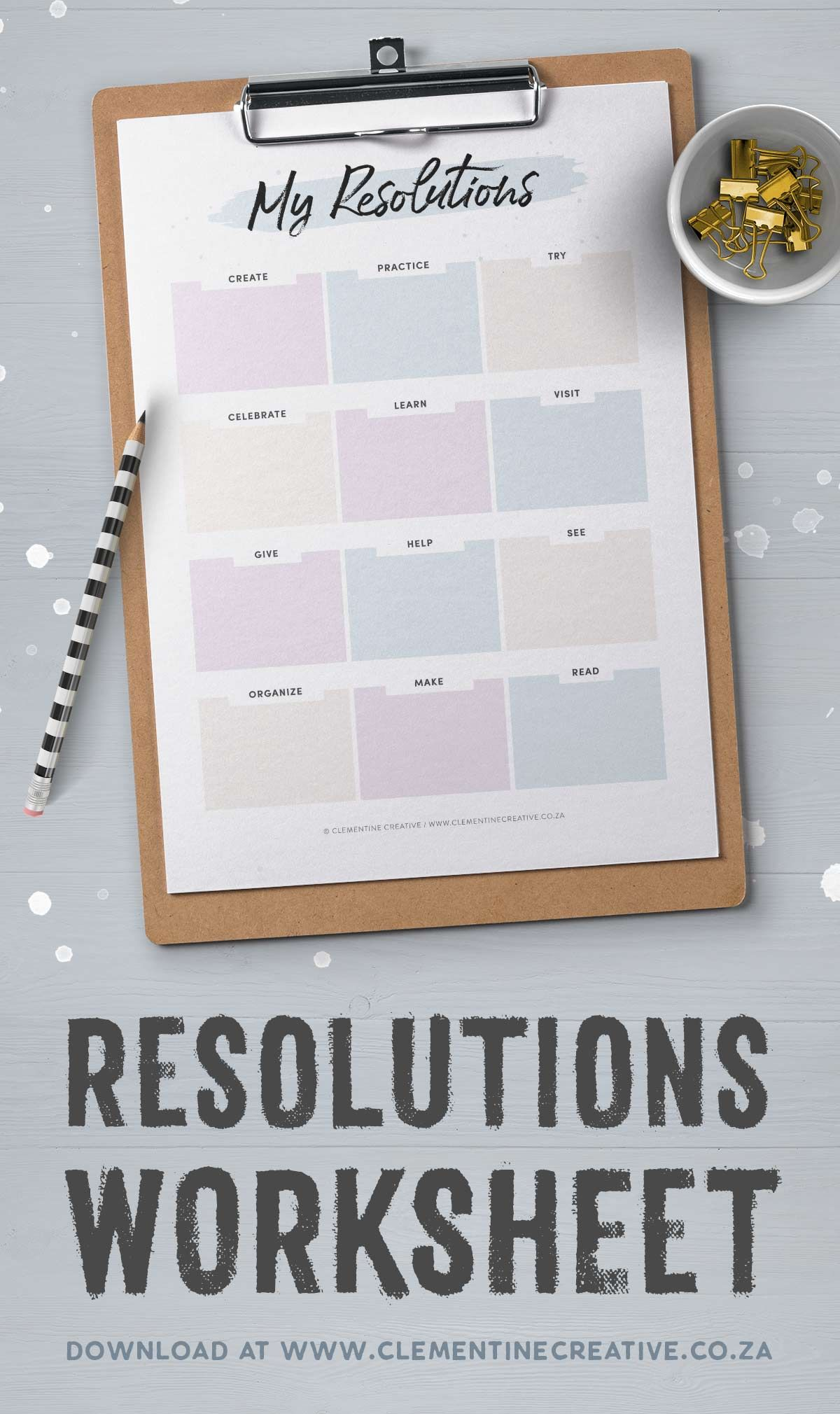 Set New Year S Goals With This Resolutions Worksheet Free