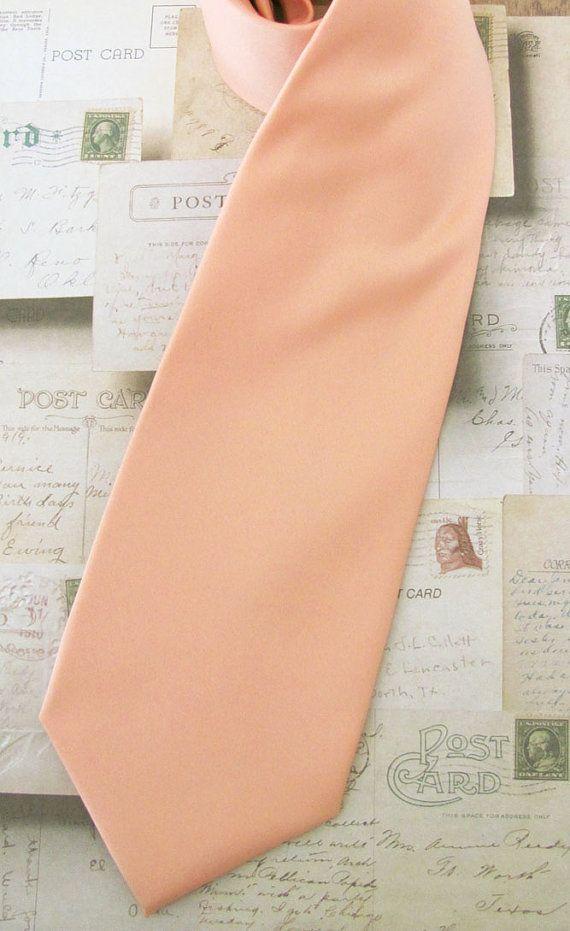 Necktie Light Peach Mens Tie by TieObsessed on Etsy, $19.95