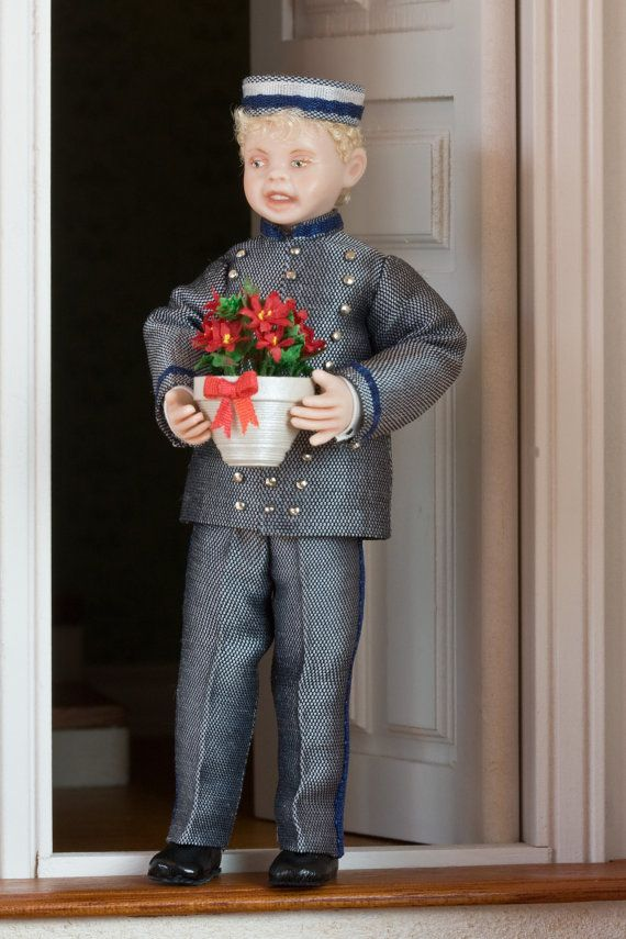 Dollhouse Miniature Porselain Boy  4/'/' tall