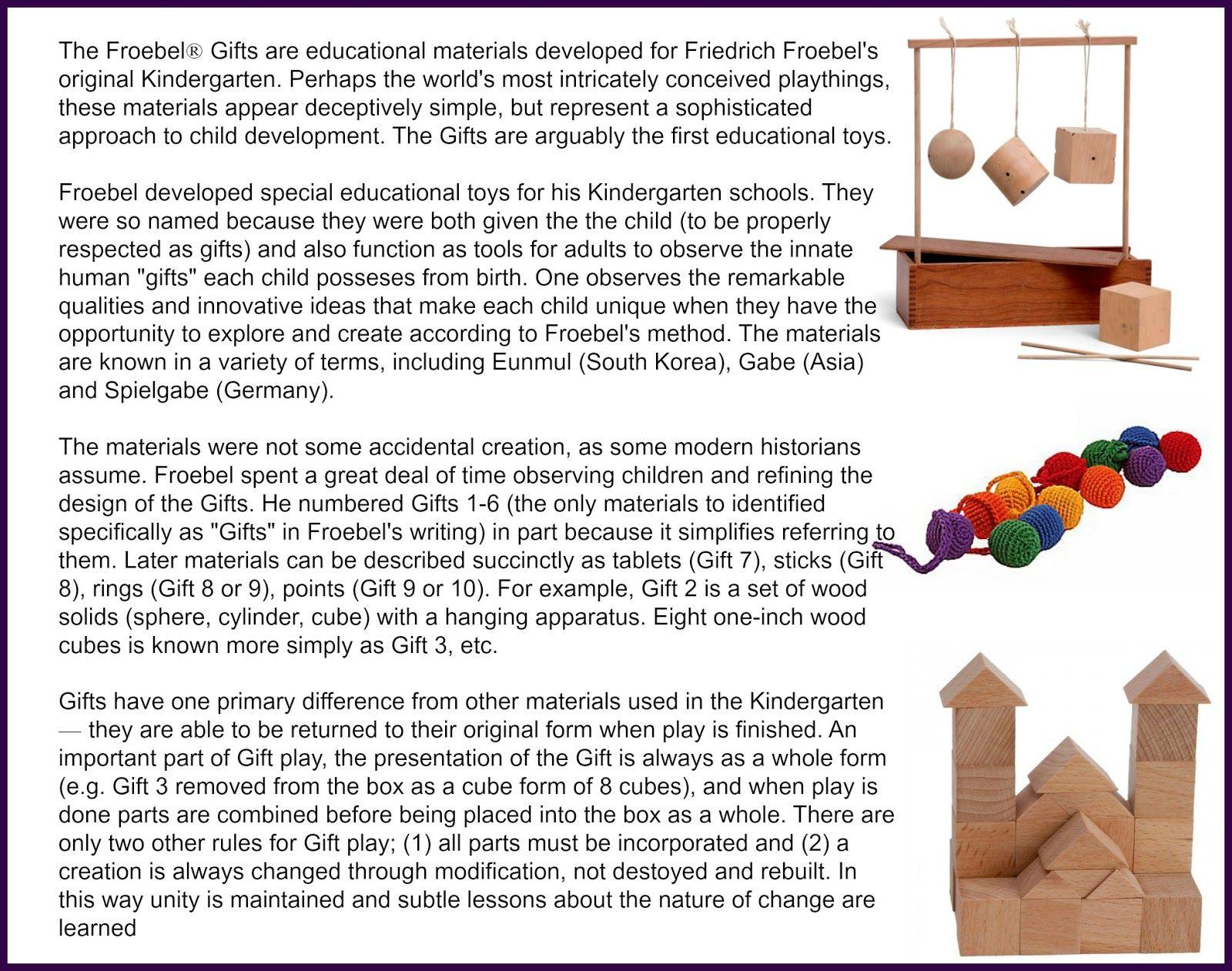 Froebel Gifts - The Original Spielgabe or Spielgaben | The ...