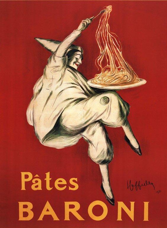 Pates Baroni by Leonetto Cappiello Italian Pasta Vintage Ad Reproduction Poster