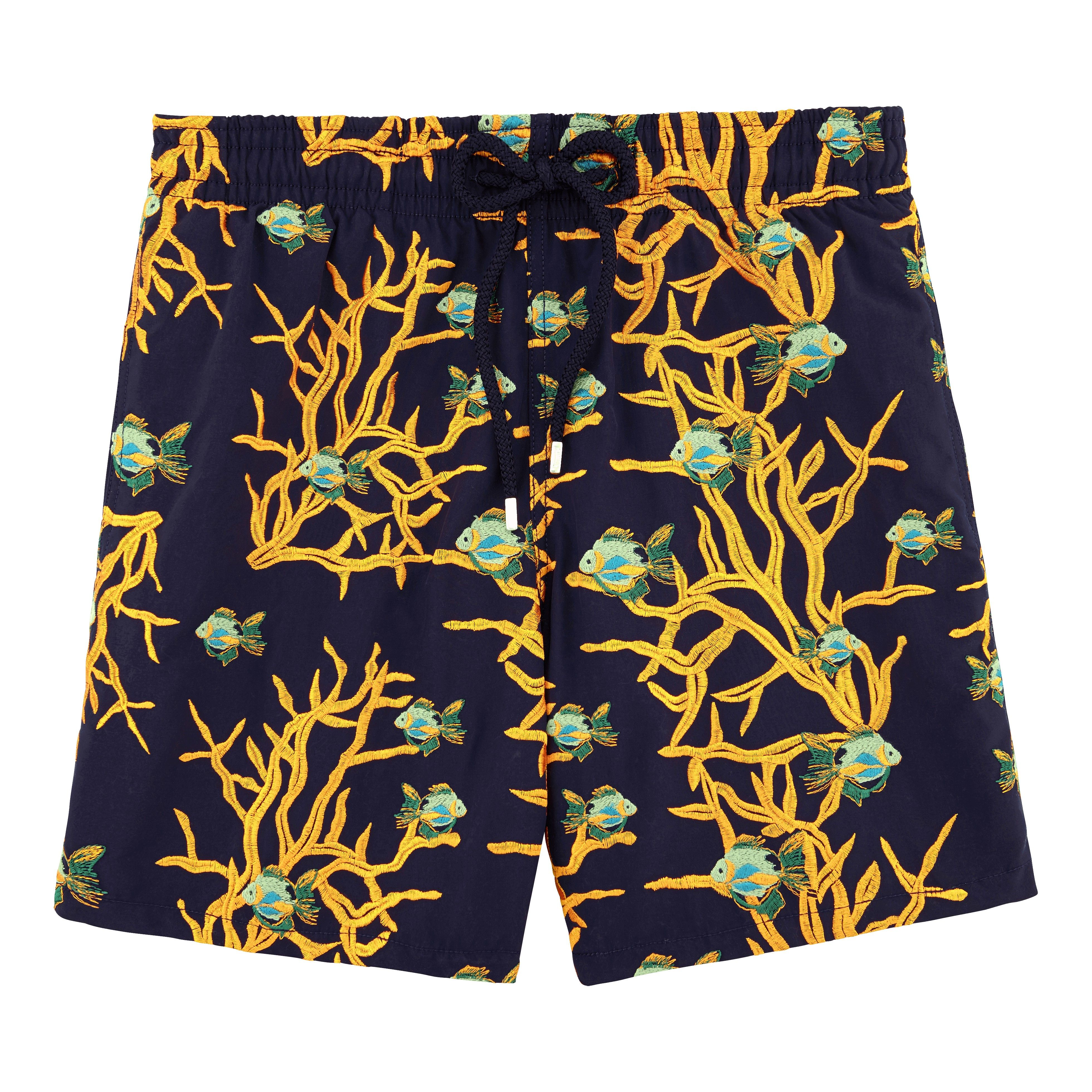 b0caff2a8f VILEBREQUIN All Over Coral And Fish Embroidery Swimwear, mistral - NAVY.  #vilebrequin #cloth #