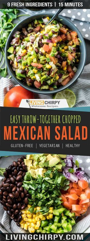 Photo of Simple Keto Chopped Mexican Salad – Living Chirpy Recipes (from liv …