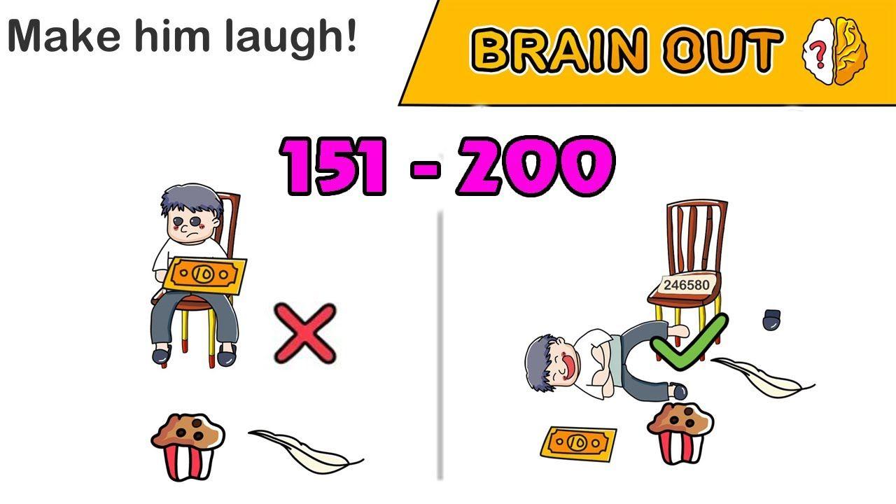 Brain Out All Levels 151 200 Walkthrough Solution đap An Brain Out G Solutions Brain Laugh