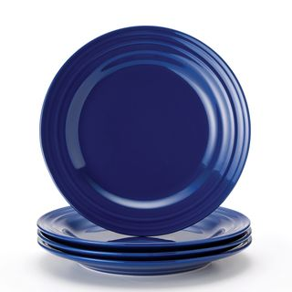 Dinnerware · Rachael Ray Double Ridge ...  sc 1 st  Pinterest & Rachael Ray Double Ridge 11-inch Blue Dinner Plates (Set of 4 ...