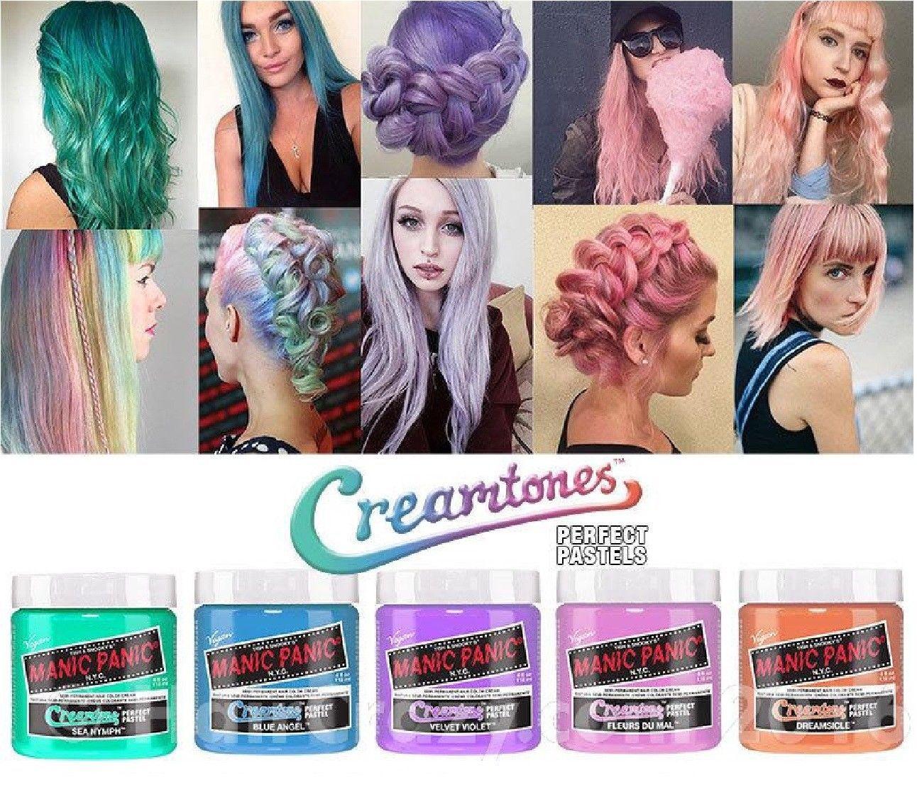 Manic Panic Creamtone Perfect Pastel Semi Permanent Hair Color 118ml Manic Panic Hair Color Manic Panic Hair Hair Color