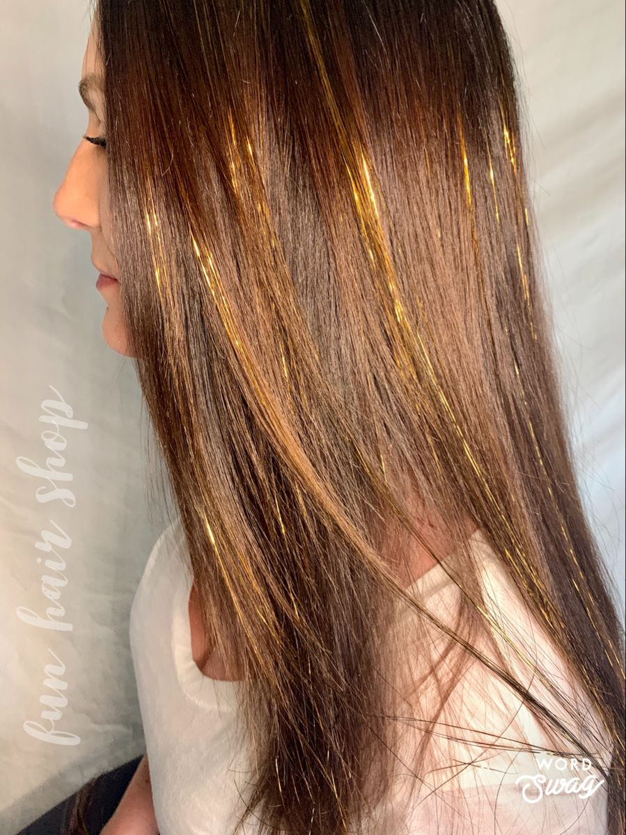 TAPEIN TINSEL Hair Extensions 100+ Sparkle Bling Strand