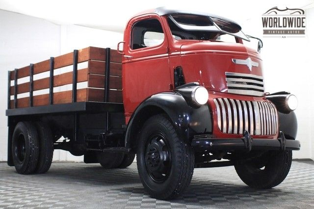 This 1941 Chevrolet Cab Over Engine truck (chassis AK663612) is said to be a California-sourced example that was restored in 2009. The seller further quotes only 2,500 miles use since completion and adds that it drives well thanks in part to a later 235ci six. Overall condition looks impressive, and