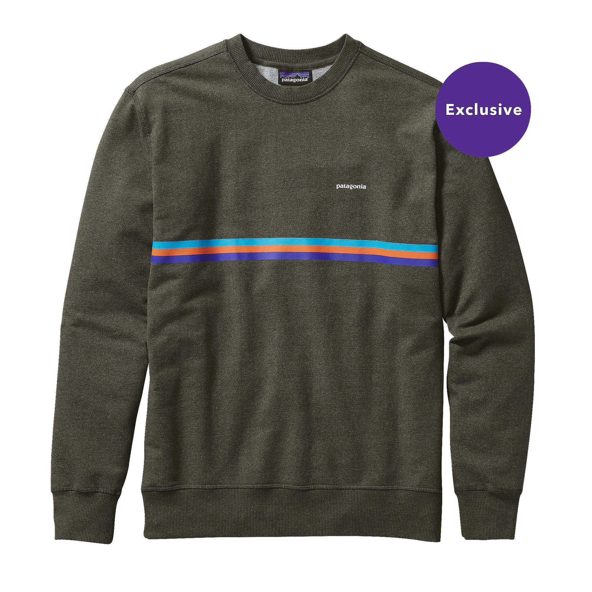 Patagonia Up Out Midweight Crew Sweatshirt Men S Beryl Green Long Sleeve Tshirt Men Sweatshirts Formal Men Outfit [ 900 x 900 Pixel ]