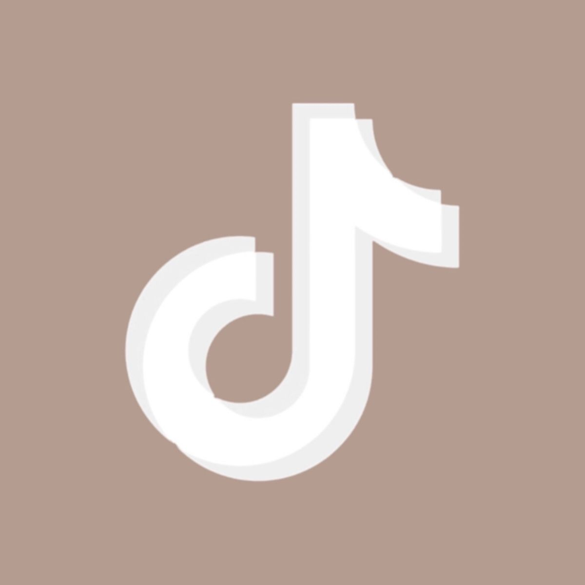 Tiktok App Icon Brown Aesthetic In 2021 App Icon App Brown Aesthetic