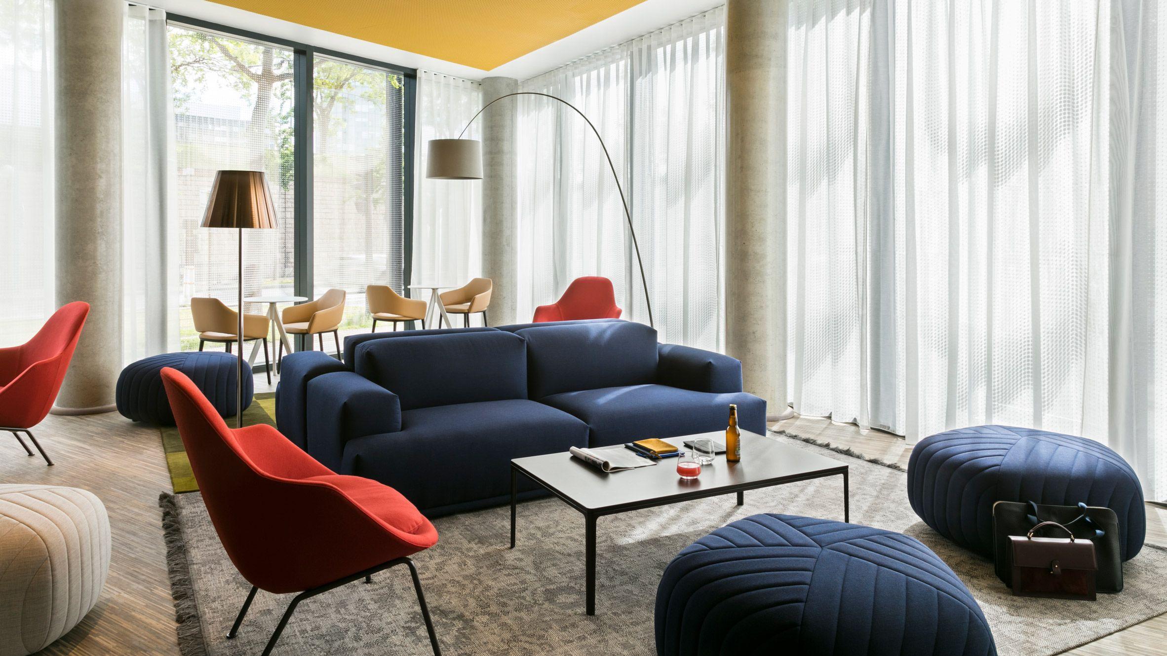 Patrick Norguet Creates Colourful Communal Spaces In New Okko  # Muebles Gautier Espana