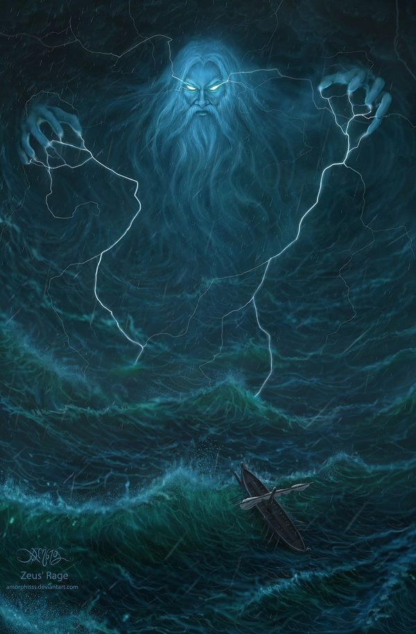 Zeus' Rage by amorphisss.deviantart.com on @deviantART