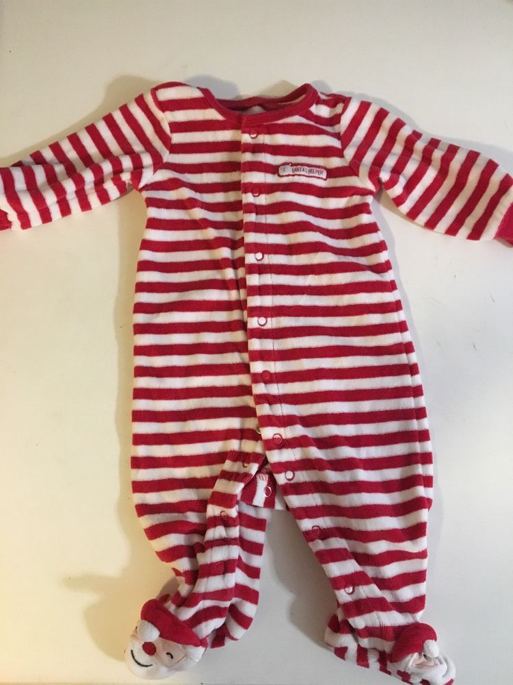 16613567f2fb Just One You Carters Christmas Pajamas Footed One Piece Santa 6 ...