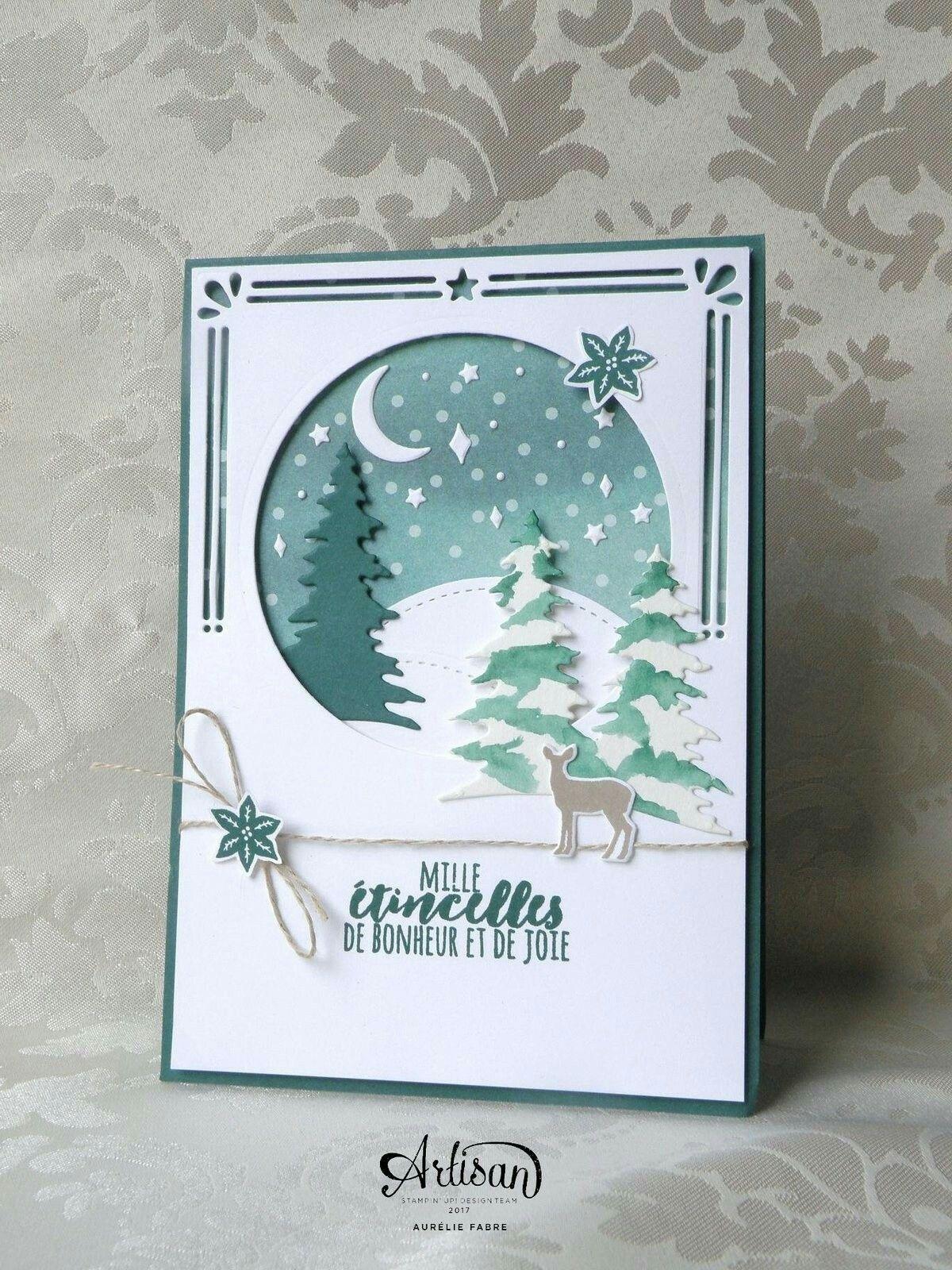 Weihnachtskarte basteln und stempeln mit stampinup stempelset wie ein weihnachtslied 2017