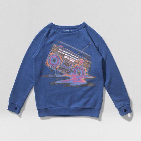 Ghetto navy Sweater | Munsterkids