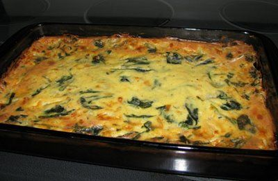 Strata - This one is Bacon,3 - cheese and spinach, I like Strata better than Quiche because it's about the same without the crust.