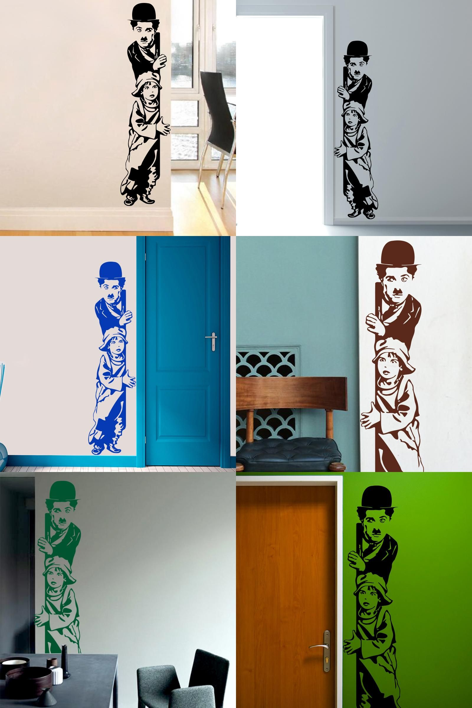 Visit to buy art decor chaplin the kid wall stickers vinyl movie