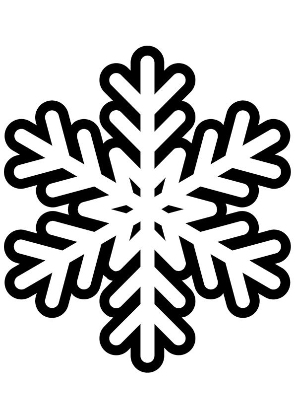 Free snowflake coloring pages for kids  Christmas  Pinterest