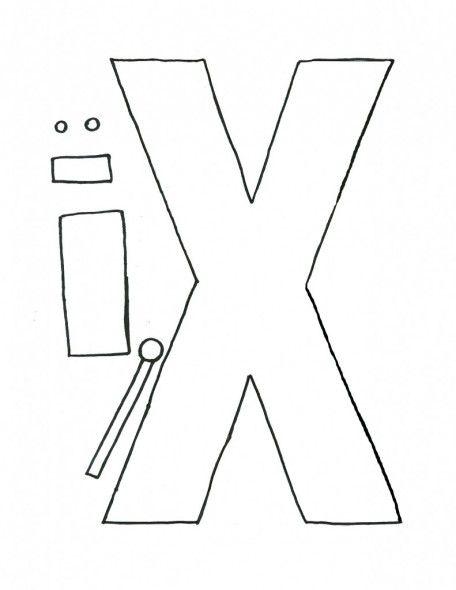 letter x preschool - 456×590