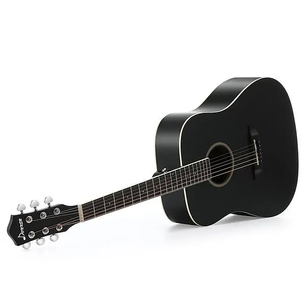 Donner 41 Inch Full Size Dreadnought Black Acoustic Guitar Gear Up Cover Up Reverb Black Acoustic Guitar Guitar Acoustic Guitar