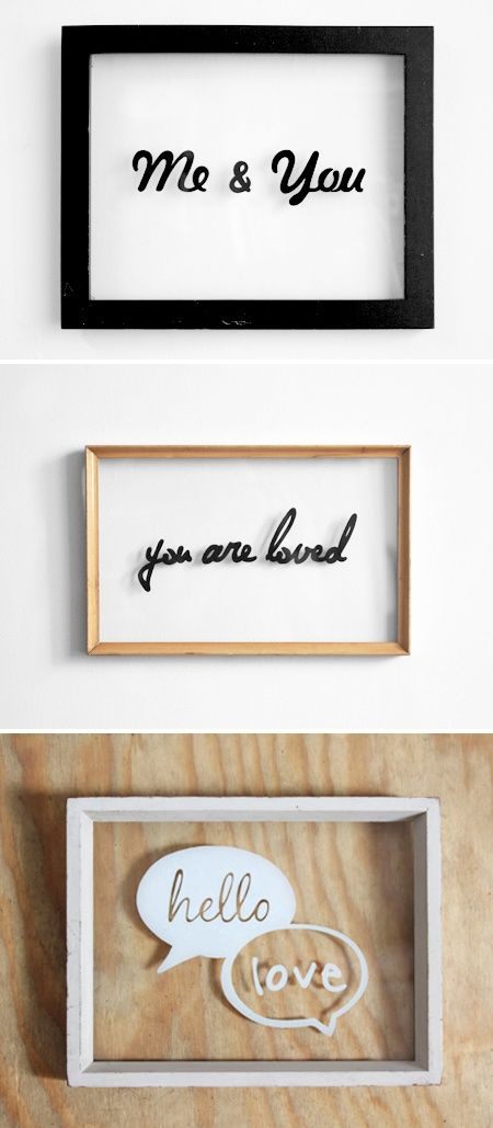 Photo of Hand drawn typography on glass frames created using sharpie pens