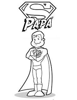 Dibujos De Super Papá Para Colorear Del Día Del Padre Educativo