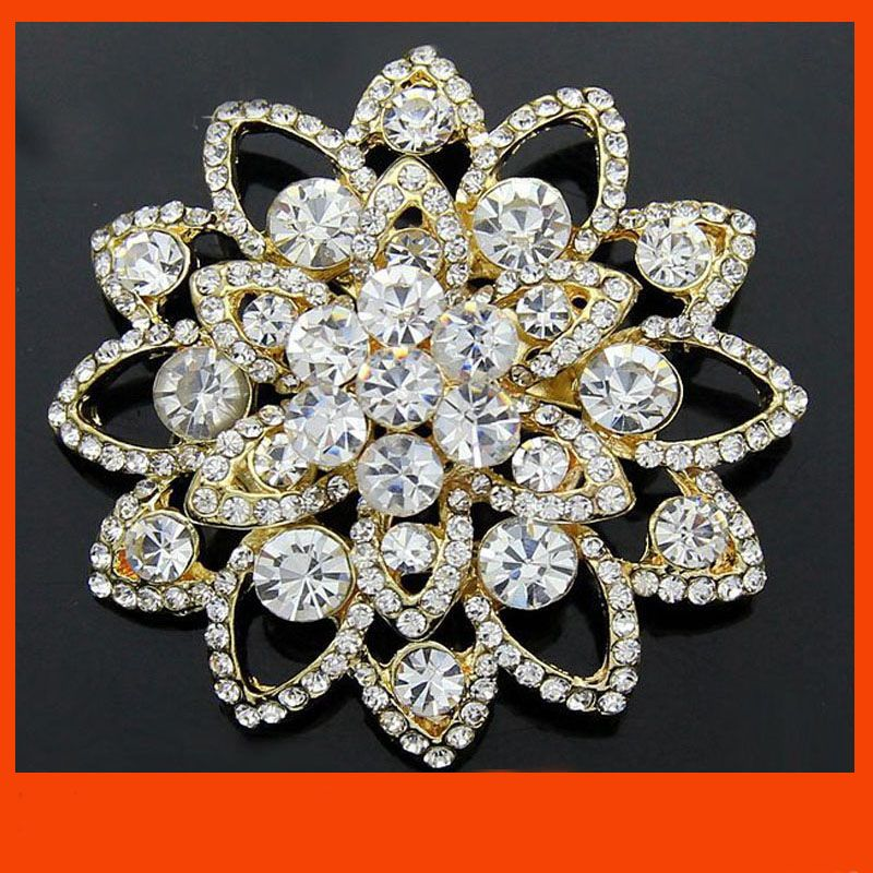 734a19084a1 Cheap brooches for wedding, Buy Quality gold brooch directly from China rhinestone  brooch Suppliers: Gold brooch /Gold color rhinestone brooch for wedding ...
