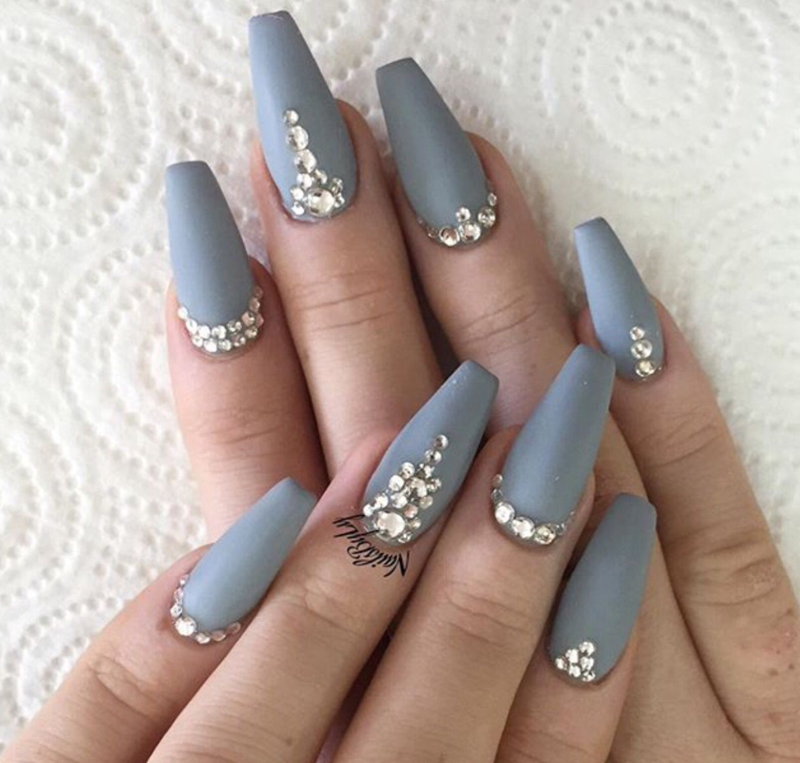 Dont care too much for the jewels but that color is everything our favorite nail designs tips and inspiration for women of every age great gallery of unique nail art designs of 2017 for any season and reason prinsesfo Images