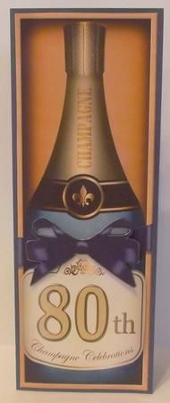 Card Gallery - Large DL 80th Champers in a Box Quick Card 3D Decoupage