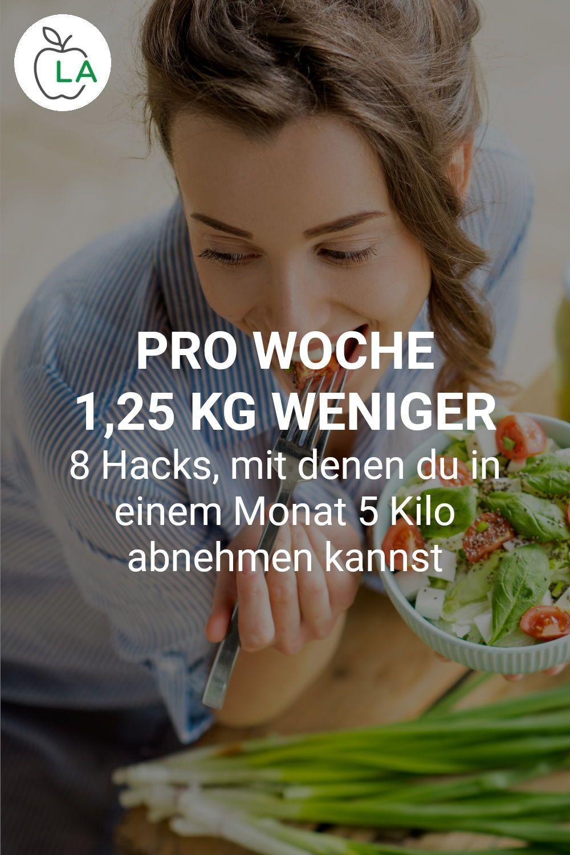 Wie kann ich in 1 Woche 5 Kilo abnehmen?