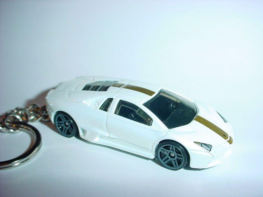 3d White Lamborghini Gallardo Custom Keychain Key Chain Keyring