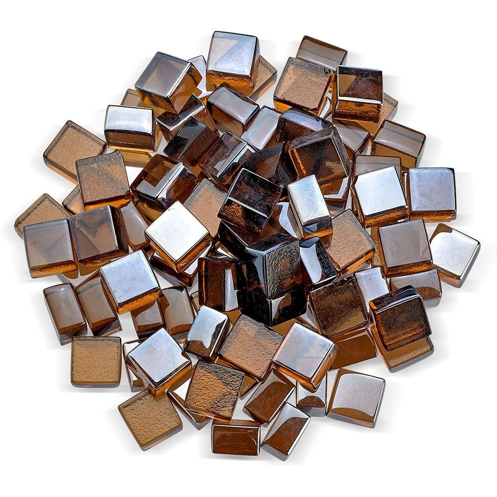 American Fireglass 1 2 Inch Fireglass 2 0 10 Pounds Copper Luster Fire Glass Fire And Stone Glass Material