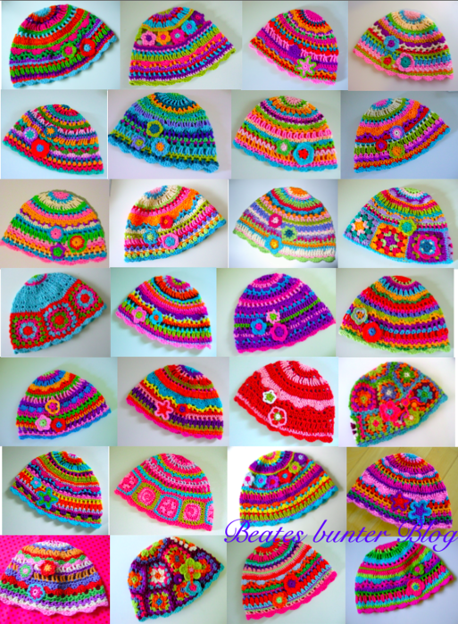 Crochet Free hat pattern - Häkeln Kostenlose Anleitung Muster Hut ...