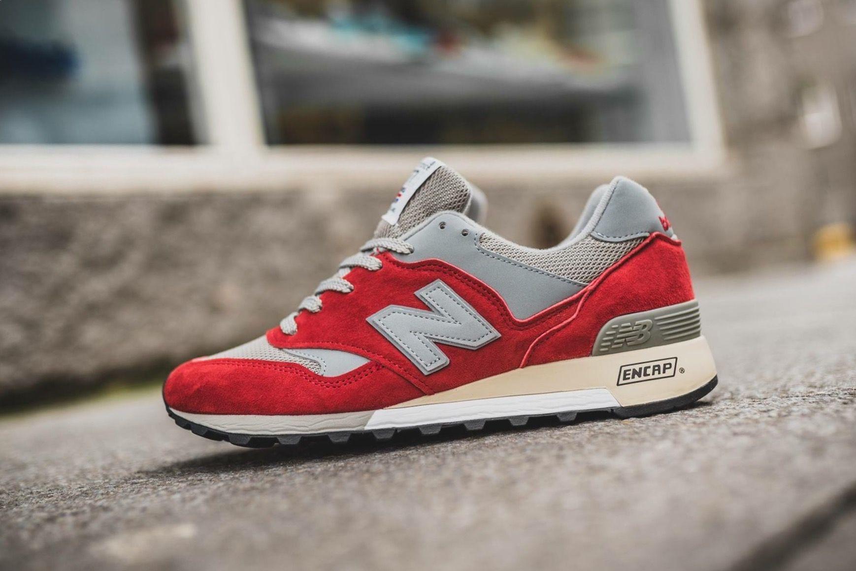 New Balance 577 Red/Grey Sneakers men, New balance