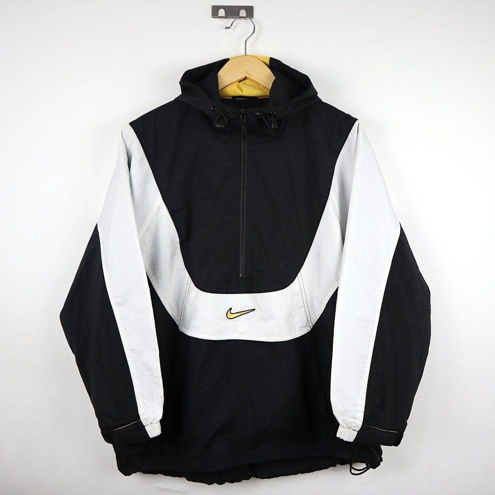 Rare Vintage 90s Nike Windbreaker Halfzip 1 4 Zip Colorway Multi Color Block Jacket Hoodie Retro Nike Old School Pullover Jumper Vintage Jacket Outfit Trendy Jackets Cute Nike Outfits
