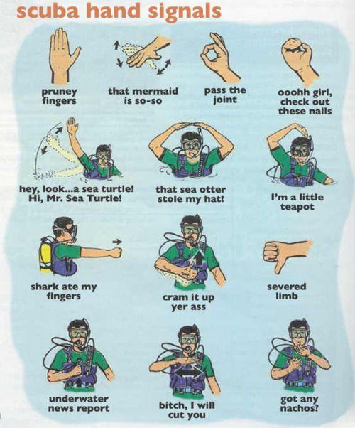 Funny Scuba Hand Signals, Part 1