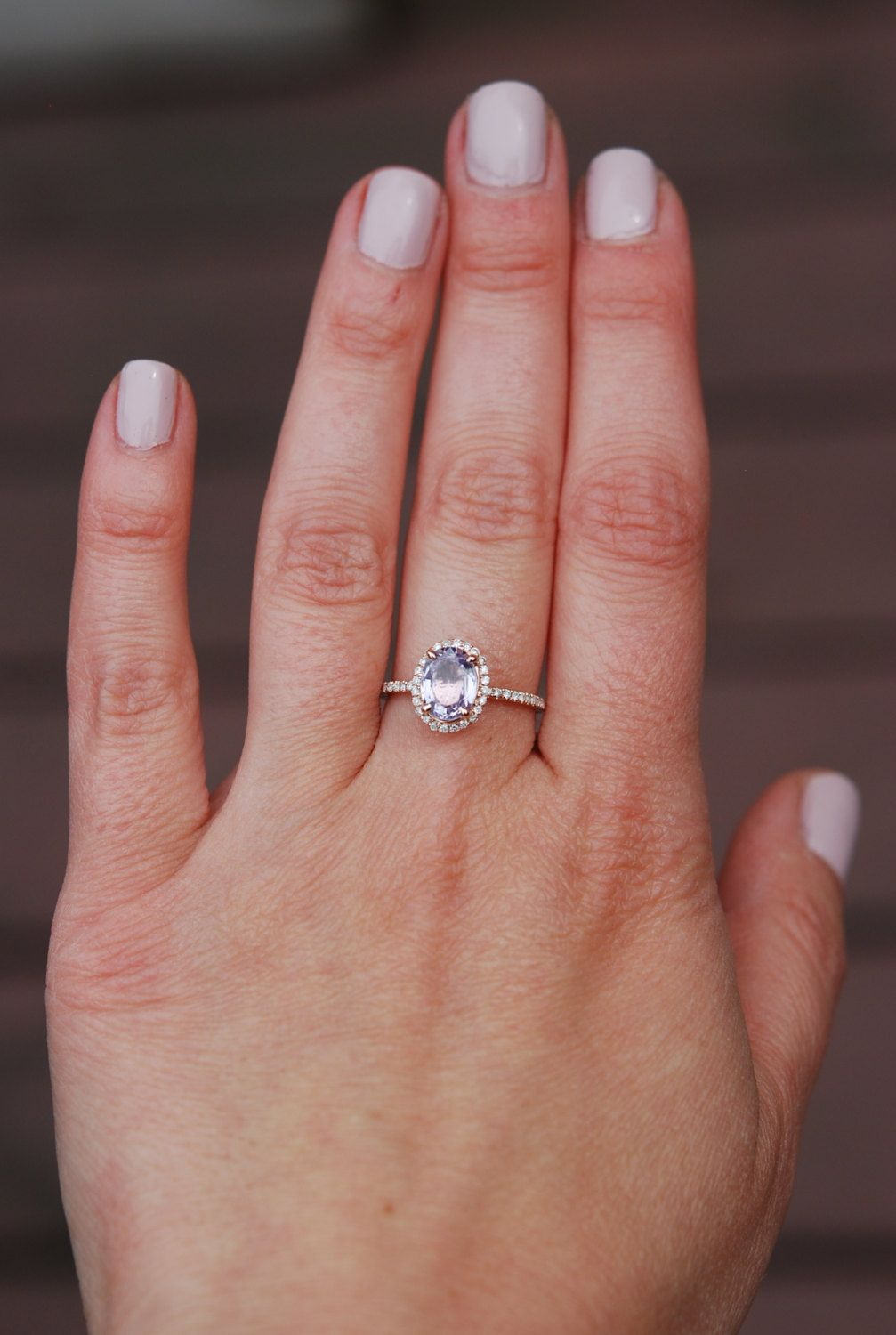 Rose gold engagement ring. Peach sapphire 4.72ct peach champagne ...
