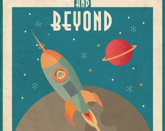 NASA Space Travel Astronaut Posters Metallic Wall Art Vintage Prints A4|A3|A2|A1