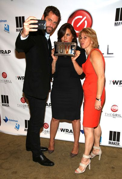 Mariska Hargitay Photos Photos - (L-R) Peter Hermann, CEO Founder The Wrap, Sharon Waxman and Mariska Hargitay attend TheGrill NYC at 10 on The Park on June 12, 2014 in New York City. - TheGrill NYC