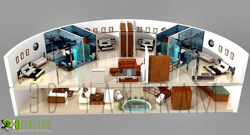 4d section floor plan design interactive 3d floor plans for Home design 4d