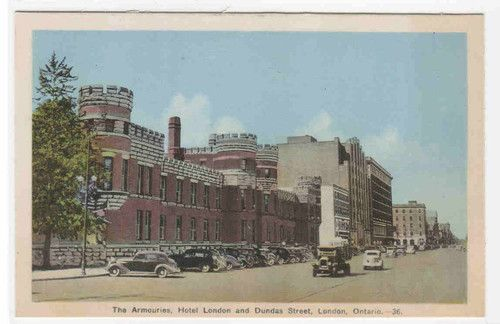 Armouries Hotel London Dundee Street London Ontario Canada Postcard Ebay London Hotels Ontario Ontario Canada