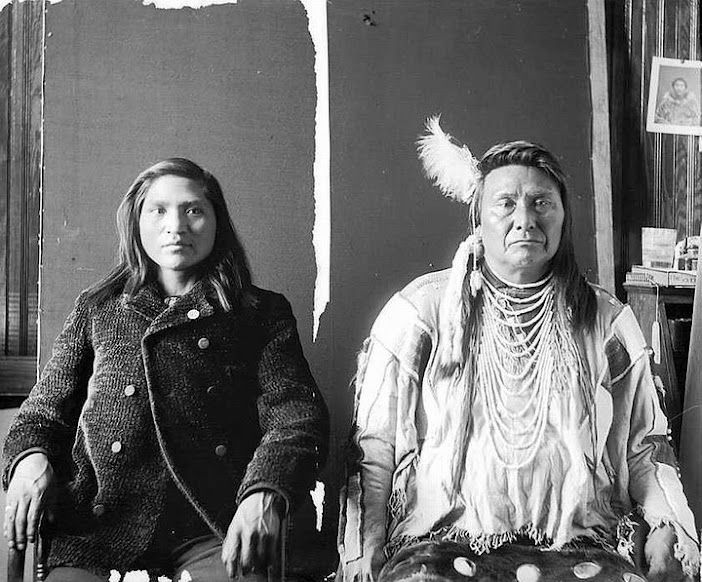 Chief Joseph (on right) and his nephew - Nez Perce - 1897
