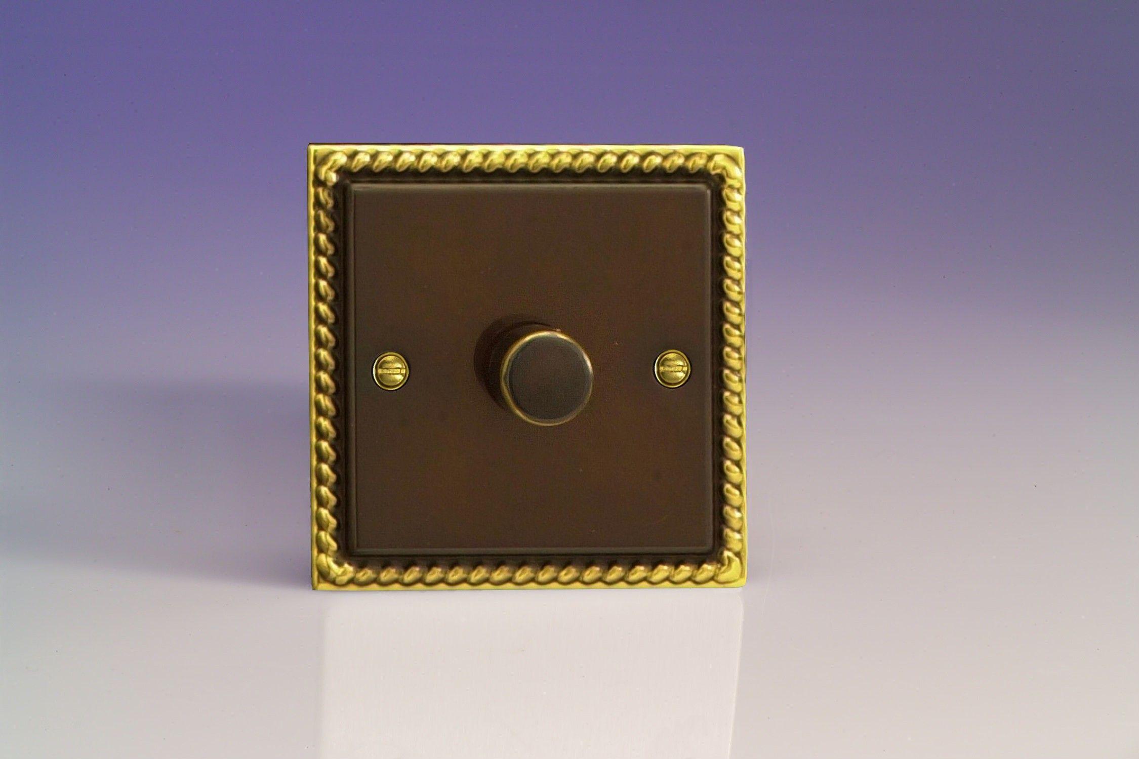 Varilight V Pro 1 Gang 2 Way Push On Off Rotary Led Dimmer Light Switch