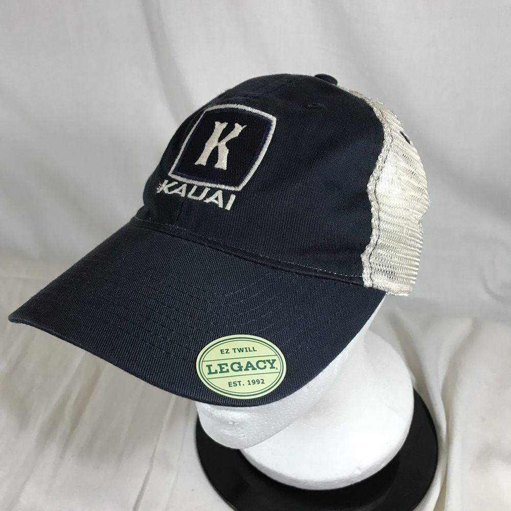 333ba45d7e8 Kauai Island Hawaii Souvenir Embroidered Snapback Hat Cap Adjustable Mesh  Blue  Legacy  BaseballCap